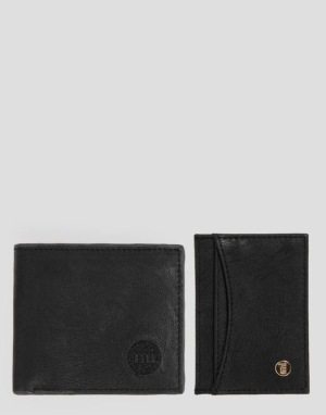 Mi-Pac Card Holder & Wallet Gift Set - Matte Black