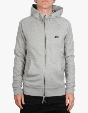 Nike SB Everett Graphic Full Zip Hoodie - Dk Grey Heather/Black