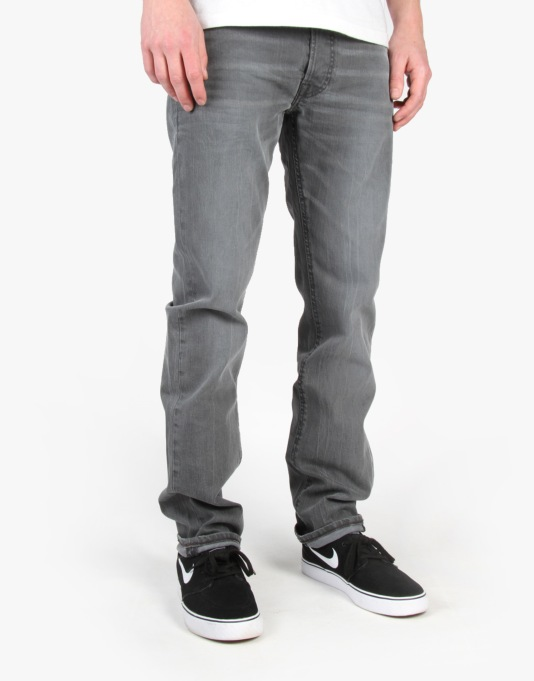 Lee Daren Slim Denim Jeans - Worn Greyly