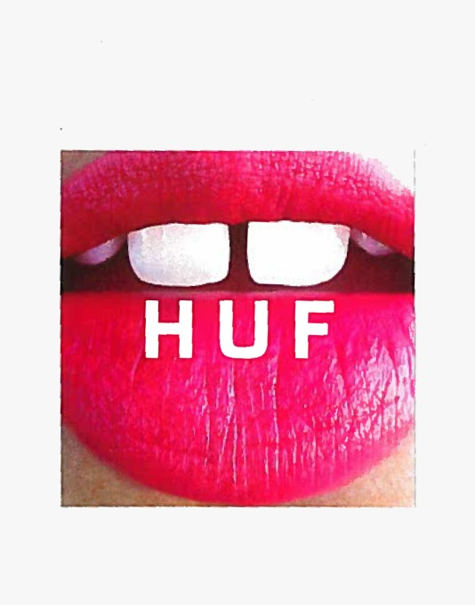 HUF Big Gap Beauties Box Logo Sticker