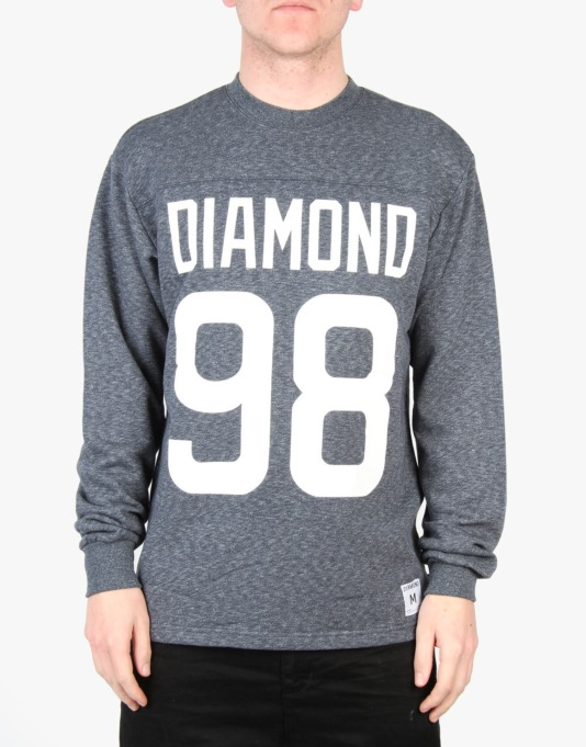 Diamond Supply Co. Reggie L/S T-Shirt - Heather Blue