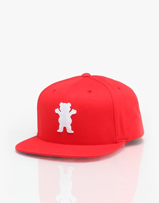 Grizzly OG Bear Snapback Cap - Red/White