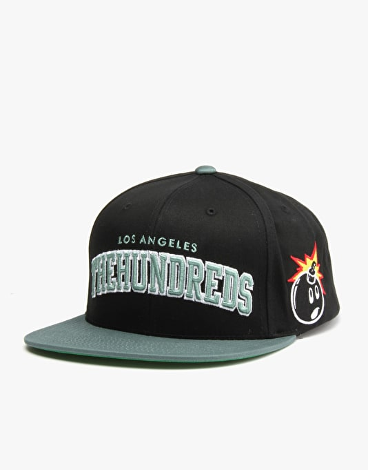 The Hundreds Player Snapback Cap - Black/Green