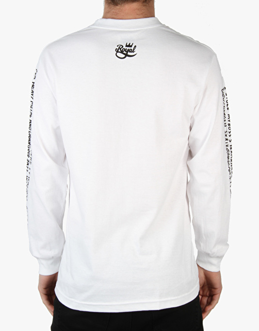 Royal Video Days L/S T-Shirt - White