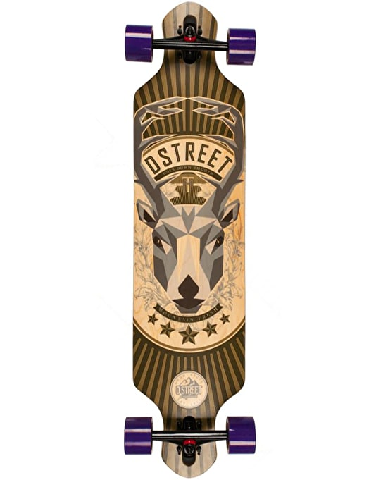 "D-Street Stag Drop Through Longboard - 39"" x 9.6"""