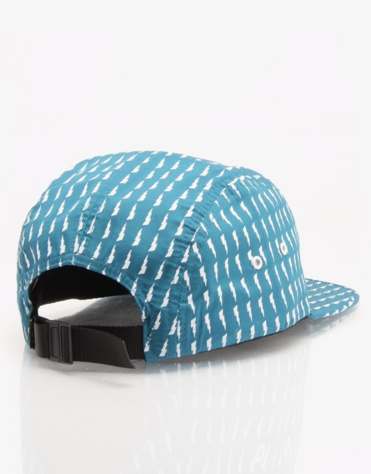 HUF Thunderbolt 5 Panel Cap - Aqua/White
