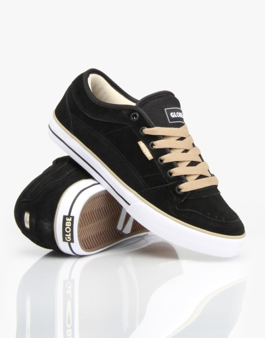 Globe TB Skate Shoes - Black/Beige