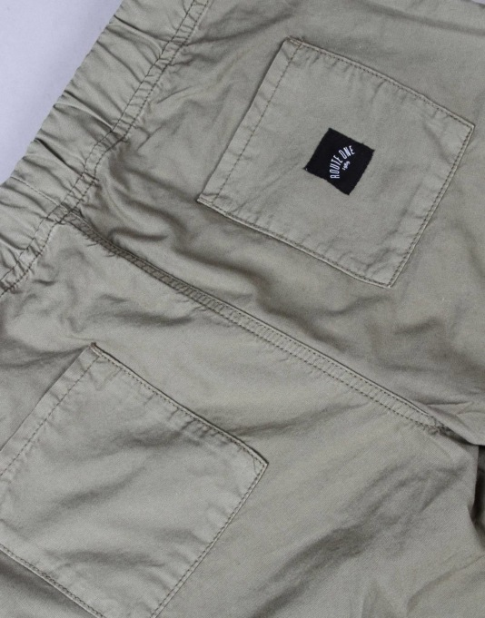 Route One Cuffed Chinos - Olive