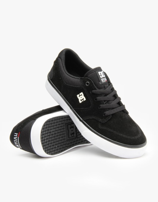 DC Nyjah Vulc Boys Skate Shoes - Black/White