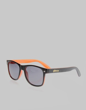Glassy Sunhater Leonard Sunglasses - Black/Orange