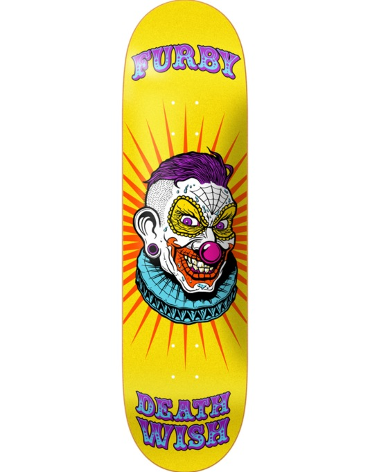 Deathwish Furby Clowns Skateboard Deck - 8.38""