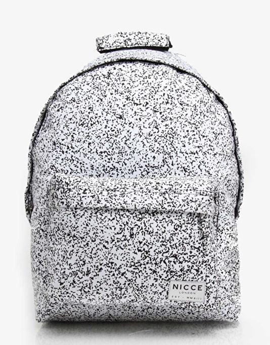 Nicce White Noise Backpack - White/Black