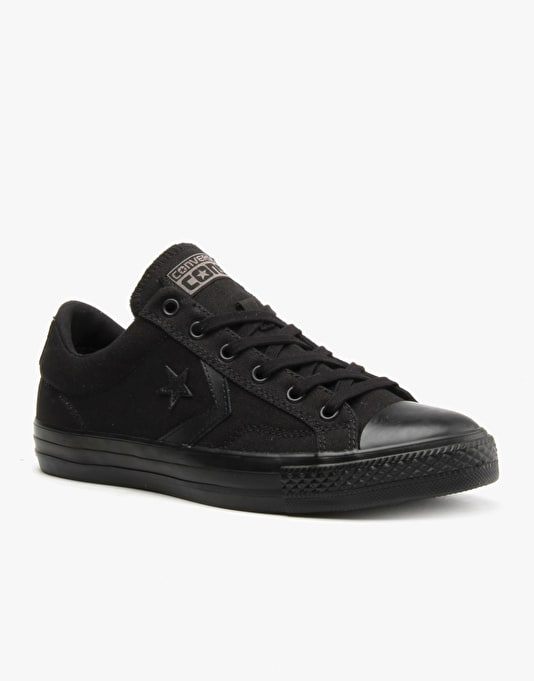 Converse Cons Star Player Skate Shoes - Black/Black