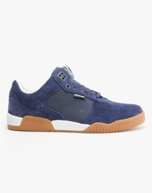 Supra Ellington Skate Shoes - Navy/Gum