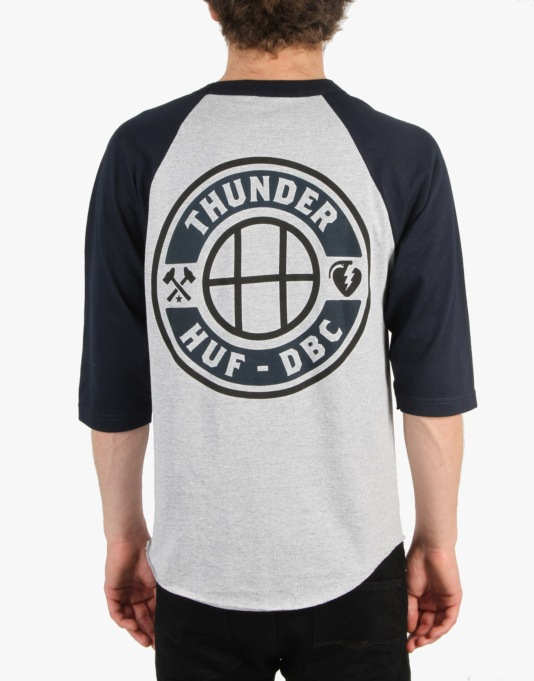 Thunder x HUF Mainline 3/4 Raglan T-Shirt - Athletic/Navy