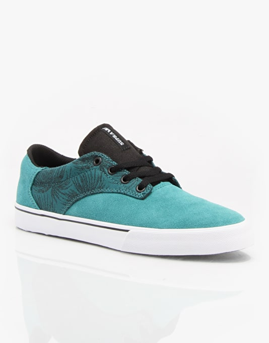 Supra Pistol Skate Shoes - Tropical Green/Black- White