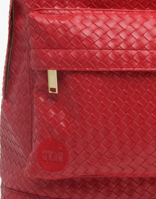 Mi-Pac Gold Woven Backpack - Red