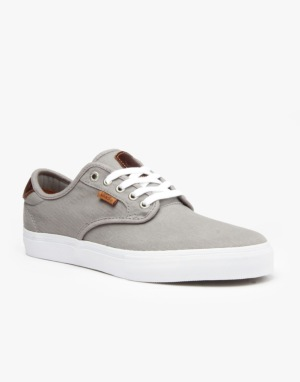 Vans Chima Ferguson Pro Skate Shoes - (Saddle) Grey/White