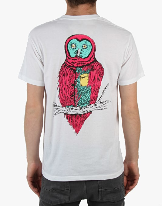 Welcome Fate Owl T-Shirt - White/Red
