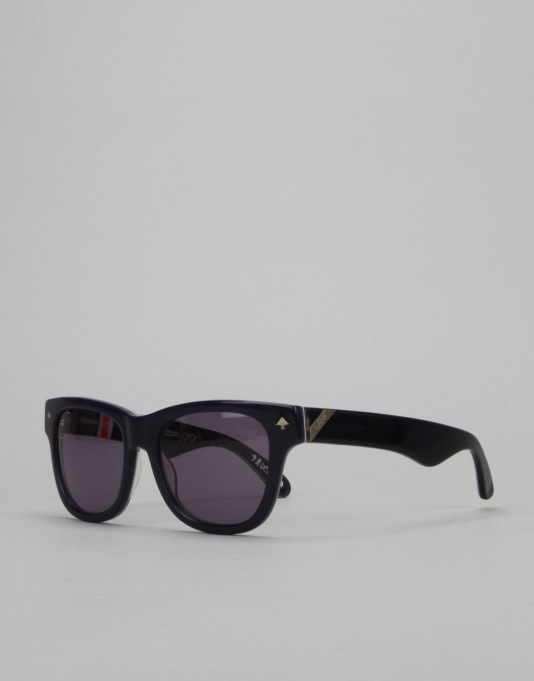 LRG Research Icon Sunglasses - Navy Pattern/Grey