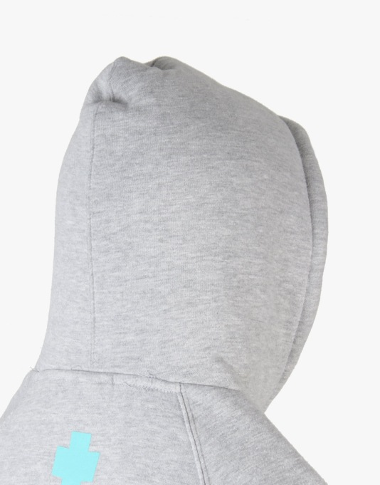 Pink Dolphin Spring Waves Pullover Hoodie - Heather Grey