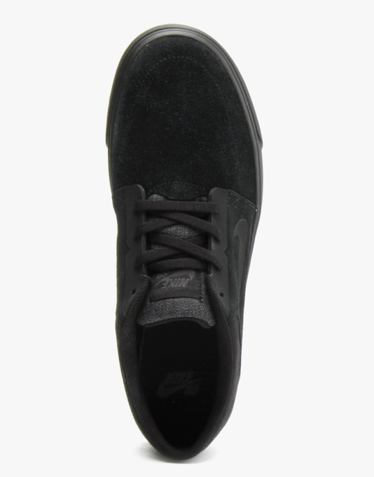 Nike SB Portmore Skate Shoes - Black/Black-Anthracite
