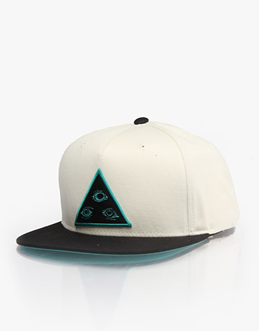 Welcome Triangle Snapback Cap - Cream/Black