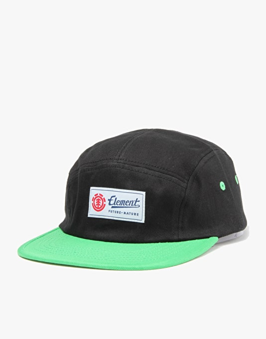 Element Yester 5 Panel Cap - Black