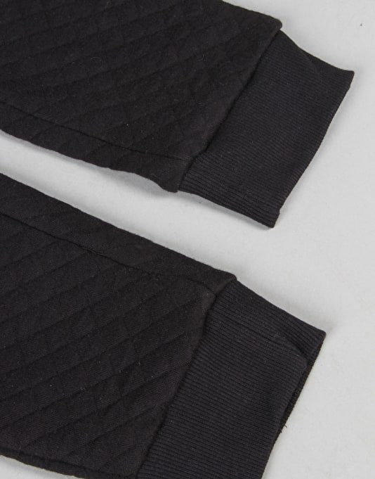 Route One Quilted Sweatpants - Black