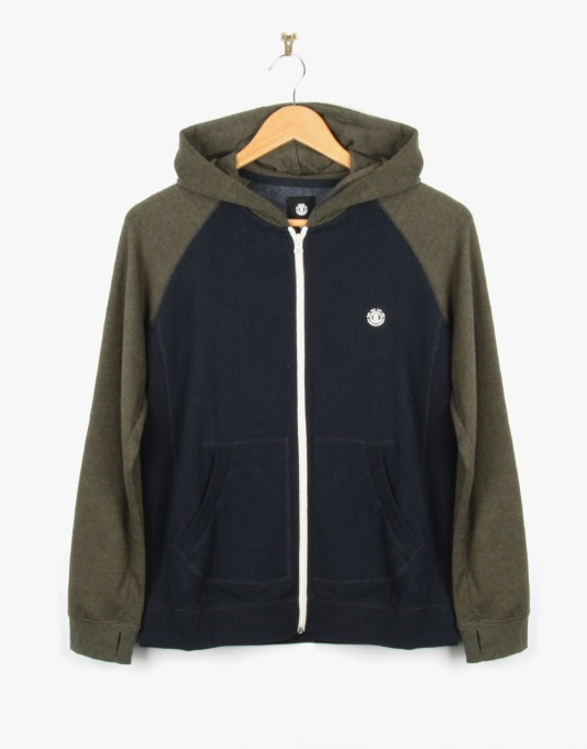 Element Vermont Boys Zip Hoodie - Military Green
