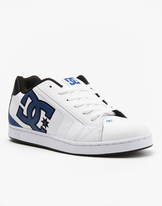 DC Net Skate Shoes - White/Blue/Black