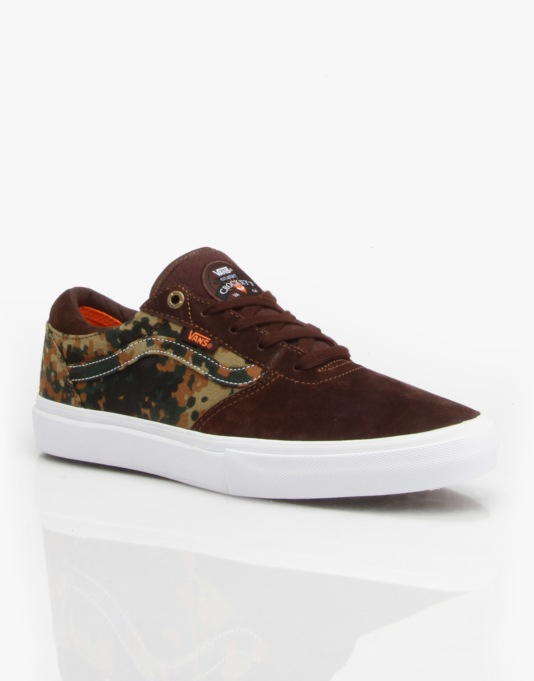 Vans Gilbert Crockett Pro Skate Shoes - Camo Dark Brown
