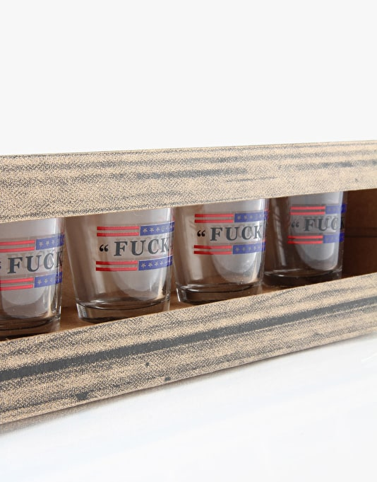 HUF Fuck It Shot Glass 4-Pack - Clear