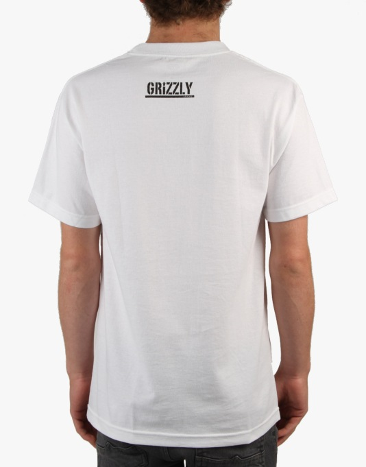 Grizzly Simplicity Bear Grizzly x Diamond T-Shirt - White