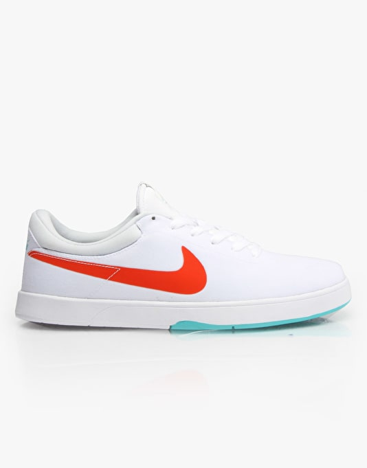 Nike SB Eric Koston SE Skate Shoes - White/Lt Retro/Pure Platinum/Oran