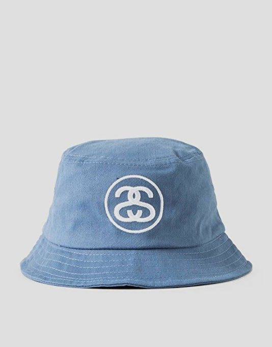 Stüssy SS Link Bucket Hat - Light Blue