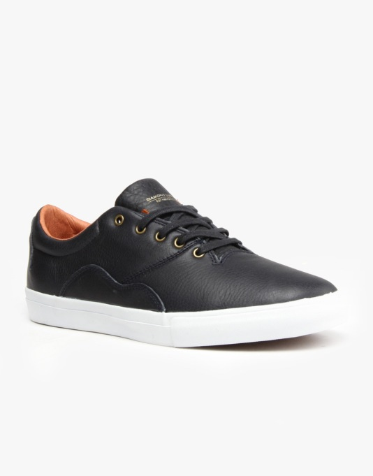 Diamond Lafayette Skate Shoes - Navy Tumbled Leather