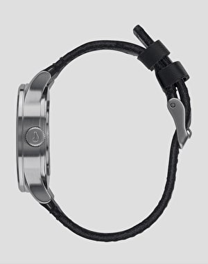 Nixon Sentry 38 Leather Watch - Black