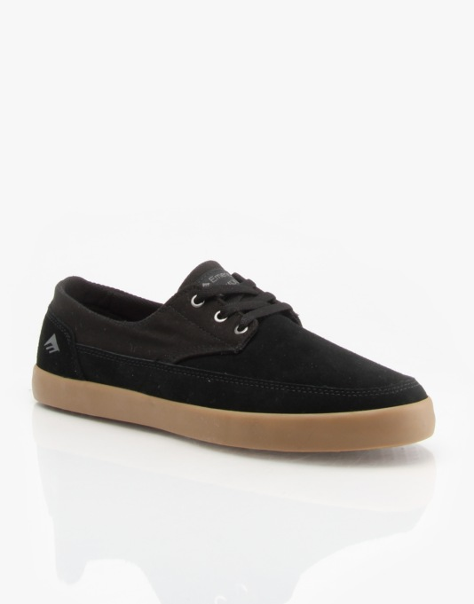 Emerica Troubodour Low Skate Shoes - Black/Gum