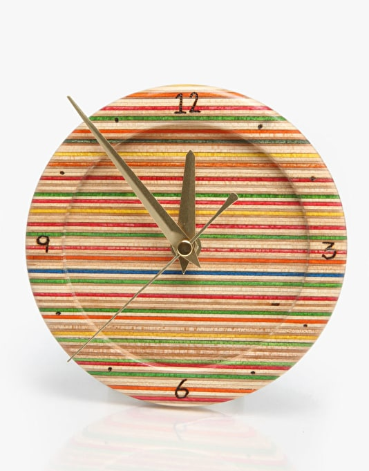 SESH Recycled Skateboard Clock - Multi Ply