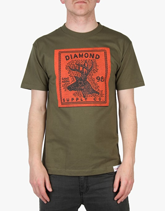 Diamond Supply Co. Game Association T-Shirt - Olive