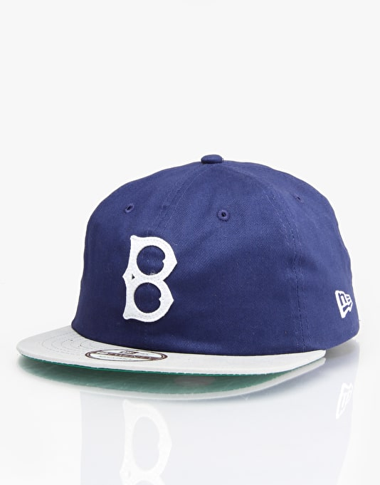 New Era MLB Brooklyn Dodgers Classic Cotton Team Strapback Cap - Blue
