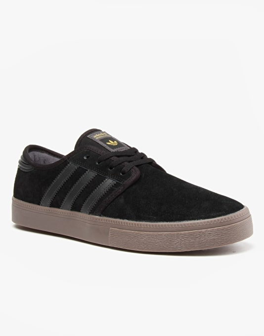 Adidas Seeley ADV Skate Shoes - Core Black/Solid Grey/Gum