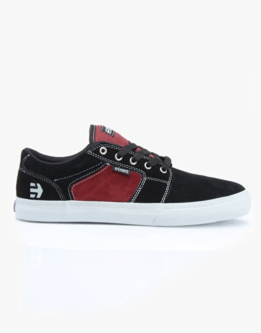 Etnies Barge LS Skate Shoes - Black/Red/Grey