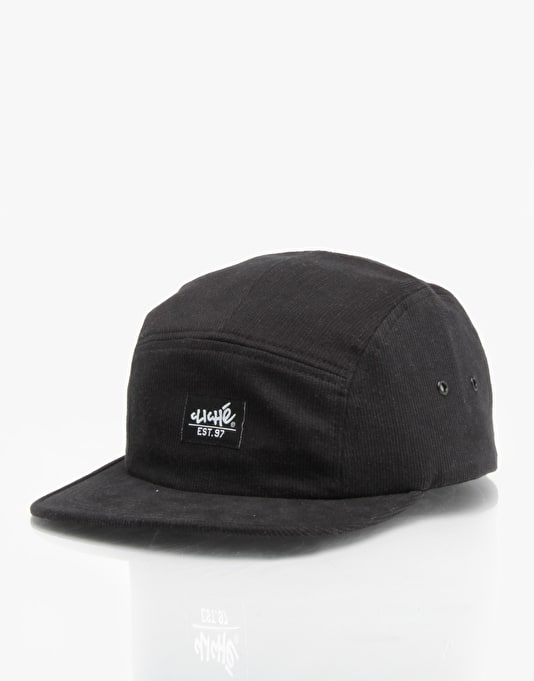 Cliché Cord 5 Panel Cap - Black