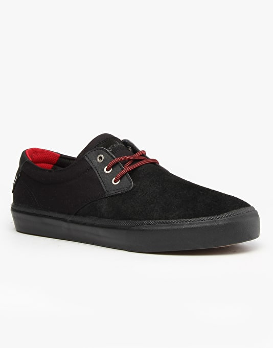 Lakai x Chocolate MJ Skate Shoes - Black/Black