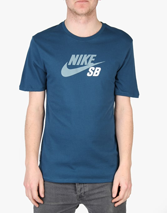 Nike SB Dri-Fit Icon Logo T-Shirt - Blue Force/Blue Force