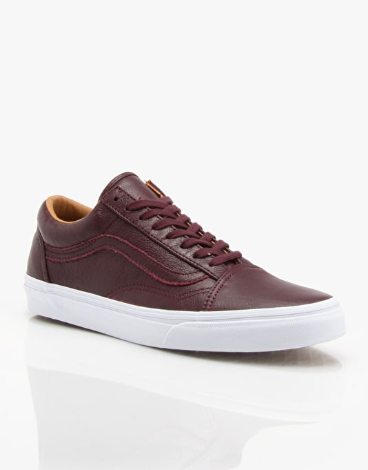 Vans Old Skool Skate Shoes - Wine Tasting Premium Leather