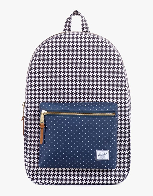 Herschel Supply Co. Settlement Backpack - Houndstooth/Navy Polka Dot