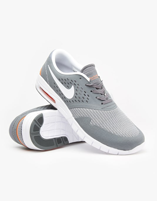 Nike SB Eric Koston 2 Max Shoes - Cool Grey/White-Total Orange